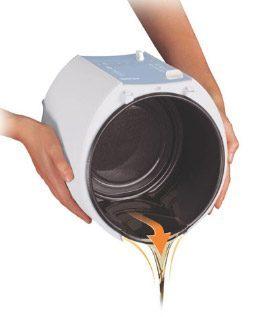 Hæld olien ud af Philips 6101