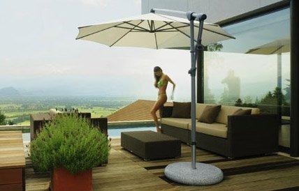En god parasol skal være let at indstille og være fremstillet af