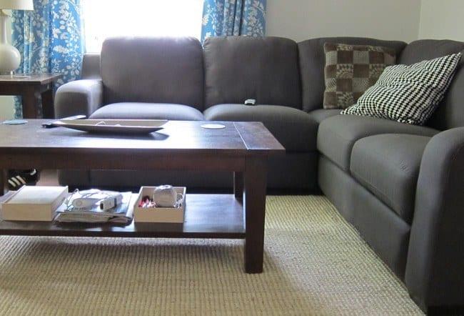 Tæppe i stuen