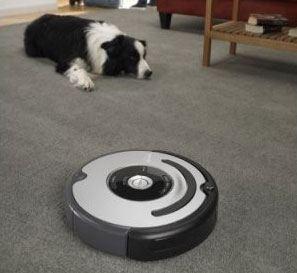 Robotstøvsugeren Roomba  og hundehår