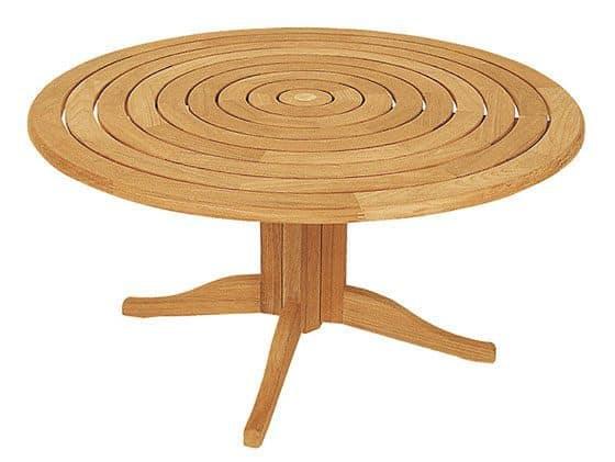 Runde haveborde - Lækre borde i teak træ