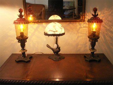 Antikke bordlamper