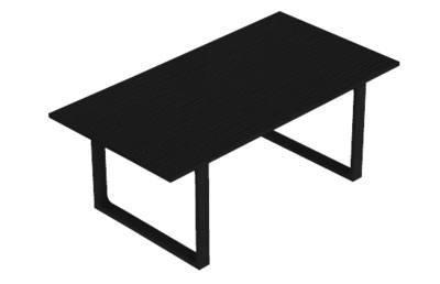 Arne Jacobsen - Sort havebord i træ