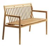 Eksklusiv teaktræ bænk FDB møbler