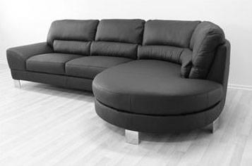 Lædersofa med chaiselong - Luksusmøbel til stuen - Hus Plus Have