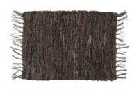 Dækkeserviet i brun læder
