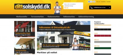 Dittsolskydd.dk - Markiser på nettet