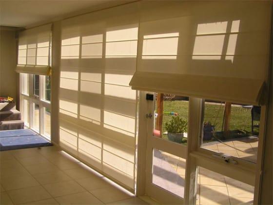 Foldegardiner til store vinduer