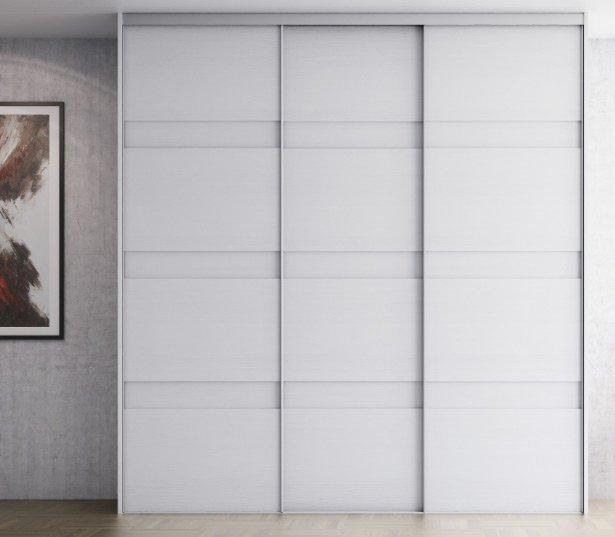 skydedøre til garderoben i hvid
