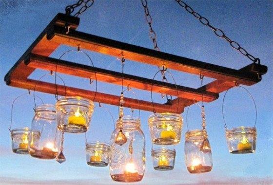 Hjemmelavet havelampe