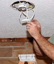 Installation af spots i loft