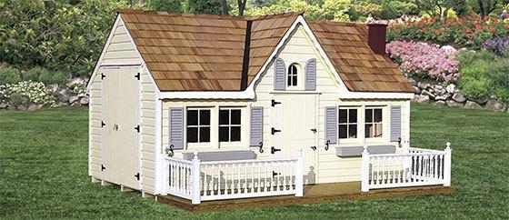 Legehus med terrasse