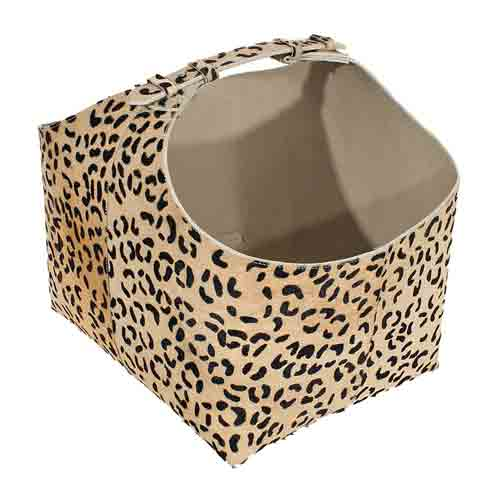 leopardskin brændekurv