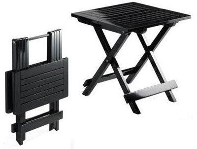 Sort havebord i træ   4 forskellige sorte haveborde