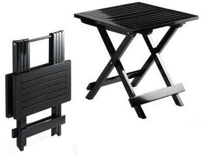 Lille sort træbord