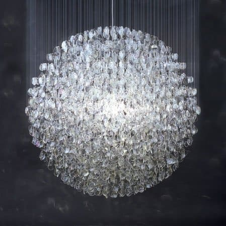 Lysekrone i kugleform