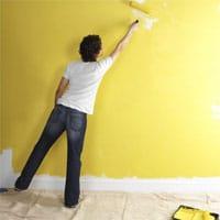 Maling af væg efter opsætning af glasvæv