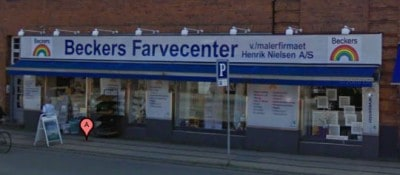 Maling hos Beckers på Frederiksberg