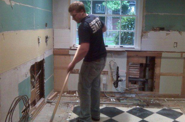 nedrivning af køkken