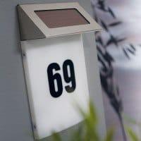 Nordlux solcelle lampe til husnummer