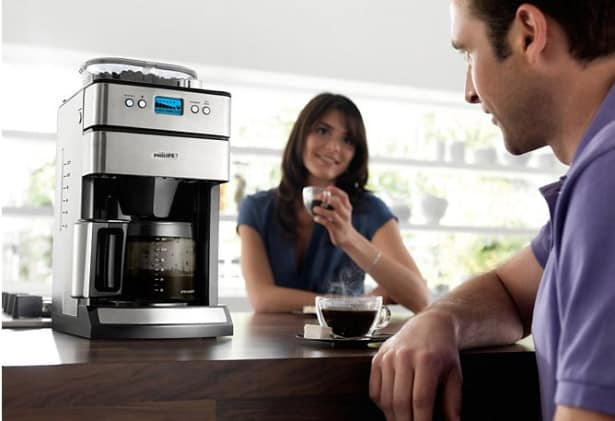 Philips kaffemaskine med kværn