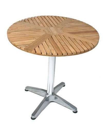 Runde haveborde   lækre borde i teak træ
