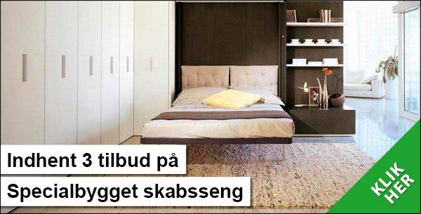 Indbygget seng i skab - Spar plads ved at gemme sengen - Hus Plus Have