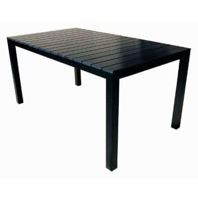 Sort havebord i træ - 4 forskellige sorte haveborde