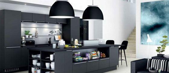 Hus med sort køkken - Nyt køkken inkl. priser og designs