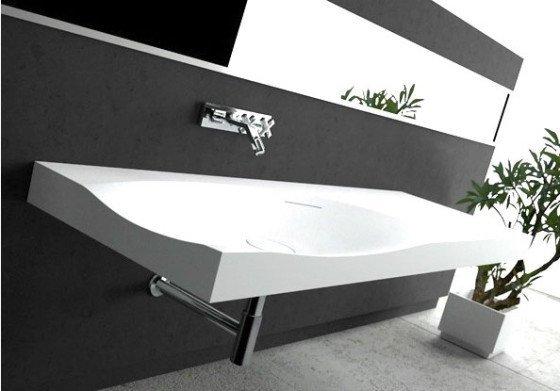 Stor hvid håndvask