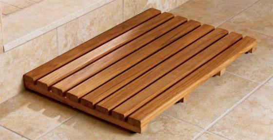 Teak træ badeværelsesmåtte