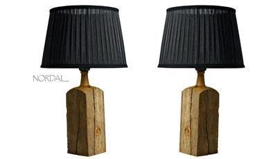 Unik træ bordlampe - Nordal fra Pindhus.dk